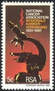 RSA/South Africa 1981 Cancer Association/ Medical/ Health/ Welfare/ Microscope 1v (n43984)