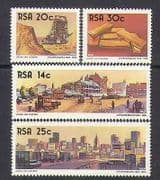 RSA  /  South Africa 1986 Gold/ Mining/ Minerals/ Industry/ Business/ Commerce/ Buildings/ Architecture 4v set (n23785)