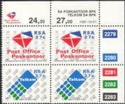 RSA/South Africa 1991 Post Office/ Telkom/ Telecomms/ Mail/ Business/ Commerce 4v c/b (n26862)