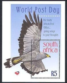 RSA  /  South Africa 1998 World Post Day  /  RAPTOR  /  Hawk  /  Birds  /  Nature m  /  s s5648