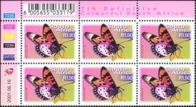 RSA  /  South Africa BUTTERFLY/ Butterflies  /  Insects 7th Defin c/b n16777