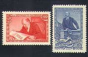 Russia 1957 Lenin  /  Politics  /  People  /  Russian Revolution 40th Anniversary /  Governance 2v set (n33105)