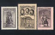 Russia 1957 Statues  /  Sculpture  /  Buildings  /  Arts  /  People 3v set (n33128)