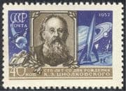 Russia 1957 Tsiolkovsky/ Science/ Rockets /Astronauts/ Space/ People/ Scientists 1v (n33109)