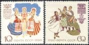 Russia 1960 Traditional Costumes/ Clothes/ Design/ Textiles/Animation 2v set (n44425)