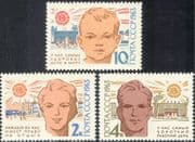 Russia 1963 World Health Day/ Welfare/ Swimming/ Sports/ Games/ Stadium/ Buildings/ Architecture 3v set (n17913)