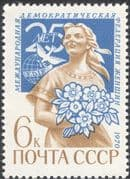 Russia 1970 International Women's Federation/ Woman/ Dove/ Animation 1v (n17902)