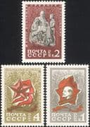 Russia 1970 Young Pioneers/ Lenin/ People/ Politicians/ Statues/ Art 3v set (n46198)