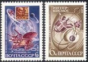 Russia 1973 Space/ Cosmonaut's Day/ Satellites/ Rockets/ Science 2v set (n11756)
