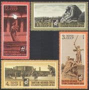 Russia 1973 Stalingrad  /  WWII  /  Battle  /  Statues  /  Memorial 4v set (n33984)