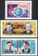 Russia 1974 Cosmonautics Day/ Space/ Rockets/ Astronauts/ Soyuz/ Weather/ Meteorology 3v set (n25277)