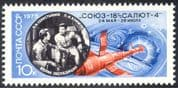 Russia 1975 Space Flight Link-up/ Soyuz/ Salyut/ Spacecraft/ Astronauts/ Cosmonauts 1v (n11763)