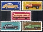 Russia 1976 Cars  /  Bus  /  Trucks  /  Buses  /  Lorries  /  Motoring  /  Transport 5v set (n39127)