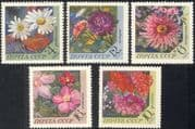 Russia 1977 Flowers/ Plants/ Nature/ Aster/ Camomile/ Clematis/ Phlox/ Dahlia 5v set (n43973)