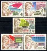 Russia 1977 Train  /  CARS  /  Ships  /  Helicopter  /  Truck 5v n17837