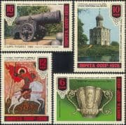 Russia 1978  Church/ Cannon/ Military/ George/ Dragon/ Painting/ Gold Bowl/ Ar t 4v set  (n17747a)