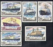 Russia 1978 Ice-breakers  /  Ships  /  Boats  /  Maritime  /  Transport  /  Nautical 6v set (b3484)