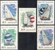 Russia 1978 Olympic Games/ Sports/ Olympics/ Sailing/ Boats/ Yachts 5v set (b1140)