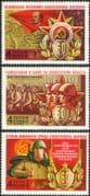 Russia 1978 Soviet Armed Forces/ Military/ Lenin/ Army/ Navy/ Air Force/ Medal/ Monument 3v set (n44966)