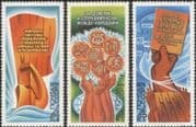 Russia 1979 Peace Programme/ Flags/ Books/ Science/ Arts/ Sports/ Films 3v set (n45073)
