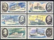 Russia 1979 Scientific Research Ships  /  Boats  /  Nautical  /  Transport 6v set (b4669)