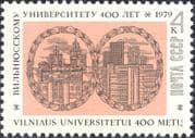 Russia 1979 Vilnius University 400th Anniversary/ Buildings/ Architecture/Clock Tower 1v (n44463)
