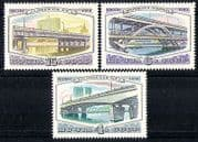 Russia 1980 Bridges  /  Building  /  Architecture 3v set n28810