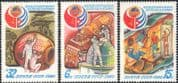Russia 1980 Space/ Helicopters/ Rockets/ Transport/ Manned Flight/ Aircraft/ Aviation 3v set (b4665)
