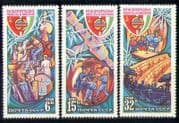 Russia 1980 Space  /  Medical  /  TV  /  Salyut  /  Rocket 3v set b4686
