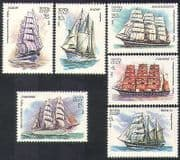 Russia 1981 Cadet Ships  /  Boats  /  Sailing  /  Navy  /  Naval  /  Nautical  /  Transport 6v set b4503