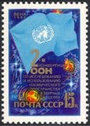 Russia 1982 Peaceful uses of Outer Space/ Planets/ UN Conference, Vienna/ Flag 1v (n31301)