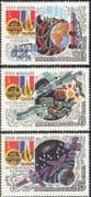 Russia 1982 Soviet-French Space Flight/ Rockets/ Medical/ Science/ Research/ Galaxies/ Astronomy 3v (b2620)