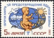 Russia 1983 Medical/ Health/ Baby/ Atom Bomb/ Dove/ Dolphin/ Nature 1v (n32133)