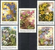 Russia 1983 Snowdrops/ Cyclamen/ Spring Flowers/ Plants/ Nature 5v set (n17991)