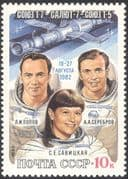 Russia 1983 Space Flight/ Soyuz/ Salyut/ Spacecraft/ Astronauts/ Cosmonauts/ People 1v (n11766)
