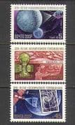 Russia 1984 Space  /  Satellite  /  Photo  /  Radio 3v set (n23889)