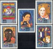 Russia 1985 World Youth & Students Festival/ Rainbow/ People/ Dove/ Camera 5v set (n17985)
