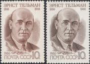 Russia 1986 Ernst Thalmann/ Politician/ Politics/ People/  Government 2v set (n45309f)