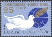 Russia 1986 Soviet Peace Fund/ Dove/ Globe/ Birds/ Animation 1v (n17901)