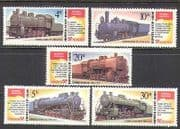Russia 1986 Steam Engines  /  Trains  /  Rail 5v set ref:n16980