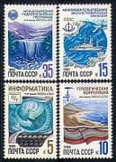 Russia 1986 Waterfall  /  Bird  /  Ship  /  UNESCO 4v set (n29126)
