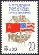 Russia 1988 Ballet/ Music/ Space/ Culture/ Flags/ Dance/ Dancing 1v (n17855)