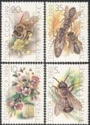 Russia 1989 Honey Bees/ Insects/ Nature/ Flowers/ Bee Keeping/ Food 4v set (b648)