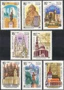 Russia 1990 Historic Churches/ Cathedrals/ Mosque/ Tower/ Buildings/ Architecture 8v set (n43755)