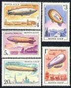 Russia 1991 Aviation  /  Zeppelin  /  Airships  /  Balloons  /  Aircraft  /  Flight 5v set (b3624)