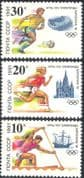 Russia 1991 Barcelona '92 Olympic Games/ Football/ Kayak/ Athletics/ Ship/ Sports/ Olympics 3v set (n18210)
