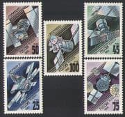 Russia 1993 Space  /  Satellites  /  Telecomms  /  Communications 5v set (n34114)