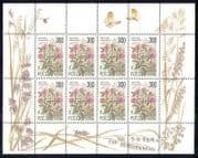 Russia 1995 Flowers  /  Bee  /  Butterfly  /  Insects 8v sht n17800