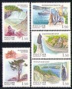 Russia 1998 Waterfall  /  Rainbow  /  Tree  /  Ship 5v set (n28658)