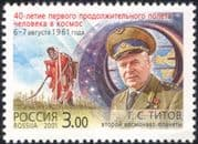 Russia 2001 Titov/ Space Flight/ Astronauts/ Vostok 2/ Rockets/ Cosmonauts/ Transport 1v (n28537)